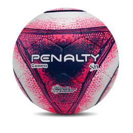 Bola Penalty Campo S11 R4 - Branca / Rosa