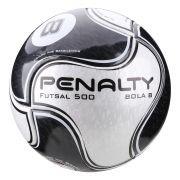 Bola Penalty Futsal 500 Bola 8 IX - Branco / Preto