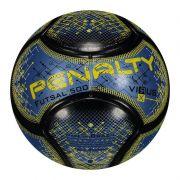 Bola Penalty Futsal 500 Virus RX - Azul 0d6cdd482f66f