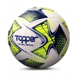 Bola Topper Futsal Oficial 22  - Branco / Amarelo
