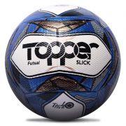 Bola Topper Futsal Slick Branco / Azul