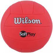 b05c9a258f1 BOLA VOLEI WILSON SOFT PLAY VERMELHA - OFICIAL