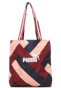 Bolsa Sacola Puma Wmn Core Shopper Vinho/Bege - ORIGINAL