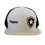 Boné Branco Topper Botafogo - Branco / Preto