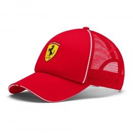 Boné puma Trucker Ferrari Fanwear Aba Curva - Vermelho