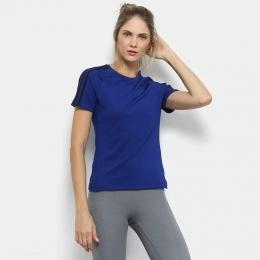 Camisa Adidas D2M 3-stripes - Azul - Feminina