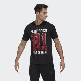 Camisa Adidas Estampada CR Flamengo - Preto