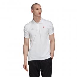 Camisa Adidas Flamengo Polo 3-Stripes CR Branca - FH7548