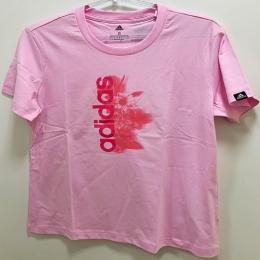 Camisa Adidas Logo linear floral- Rosa
