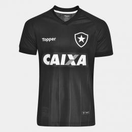 Camisa Botafogo Jogo II Oficial  Juvenil Preta - Topper