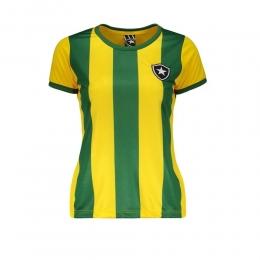 Camisa Brasil / Botafogo Braziline - Feminina Amarela