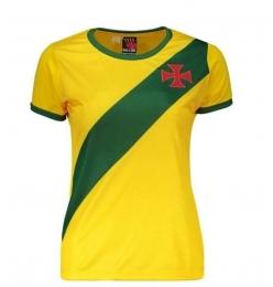 Camisa Brasil / Vasco Braziline - Feminina Amarela