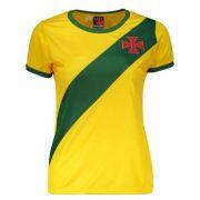 40bb45ab3f Camisa Braziline Brasil   Vasco Feminina - Amarela