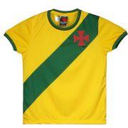 Camisa Braziline Brasil / Vasco Infantil - Amarela