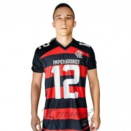 Camisa Braziline Flamengo Imperadores Futebol Americano - Rubro Negra - Torcedor