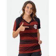 Camisa Braziline Flamengo Motion Feminina - Vermelho
