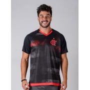 Camisa Braziline Flamengo Rally Raglan  - Preto