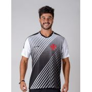 Camisa Braziline Strike Vasco Adulto - Preto / Branco