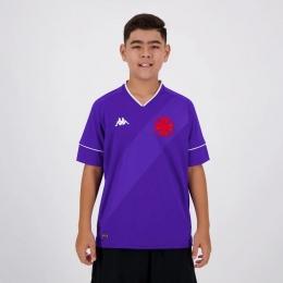 Camisa de Goleiro Vasco I 20/21 s/n° Torcedor Kappa - Infantil Roxo