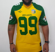Camisa Elite Brasil Onças 99 Verde / Amarelo - G