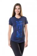 Camisa Feminina Elite Running Azul Marinho\marinho - Original