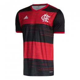 Camisa Flamengo I 20/21 s/n° Torcedor Adidas Masculina - Preto e Vermelho