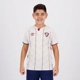 Camisa Fluminense II 20/21 s/n° Torcedor Umbro Infantil - Branco