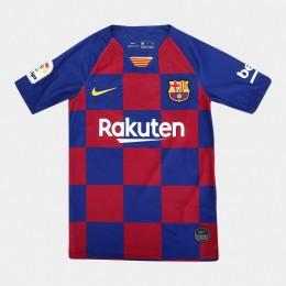 Camisa Infantil Barcelona Home Azul