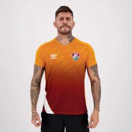 Camisa Fluminense Treino Masculina 20/21 - Laranja