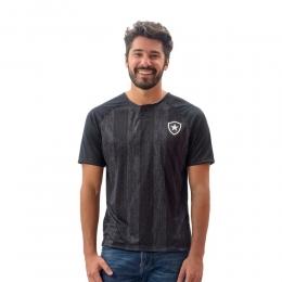 Camisa Polo Botafogo Versa Braziline - Preto