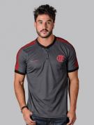 Camisa Polo Braziline Squid Flamengo - Cinza