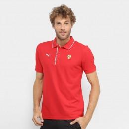 Camisa Polo Puma Scuderia Ferrari Shield - Vermelho Motorsport - Original