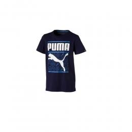Camisa Puma Infantil Style Graphic Tee - Azul