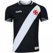 Camisa Vasco da Gama I 2018 Diadora  Jogador - Preto
