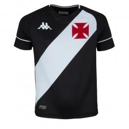 Camisa Vasco Kombat I Player Home 2020 I Kappa  - Infantil Preta