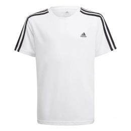 Camiseta Adidas 3 Listras - Branco/Preto