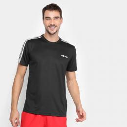 Camiseta Adidas D2M Ar 3Stripes Masculina - Preto e Branco