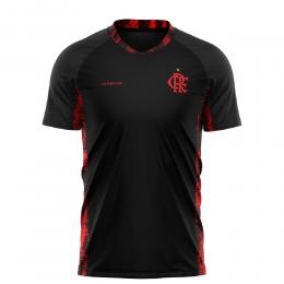 Camiseta Braziline Flamengo Blood Infantil - Preta/vermelha