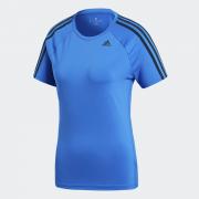 CAMISETA Adidas D2M 3-STRIPES Azul Feminina - Original