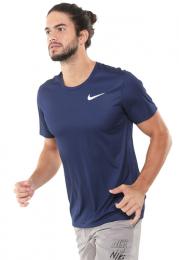 Camiseta Nike Breathe Run To Masculina - Azul