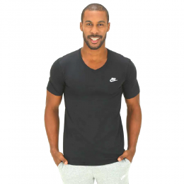 Camiseta Nike V Neck Embrd Futura - Preta