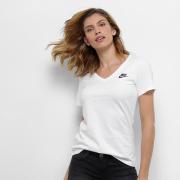 ab71984e6f Camiseta Nike W Nsw Vneck Lbr Feminina - Branco - Original