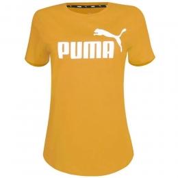 Camiseta Puma ESS Logo tee w Feminina - Amarela