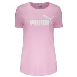 Camiseta Puma Essentials heather tee Rosa