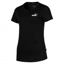 Camiseta Puma essentials tee cotton Feminina - preta