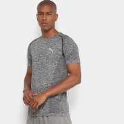 Camiseta Puma Evoknit Tee - Masculina - Cinza escuro