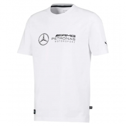 Camiseta Puma Mercedes MAPM Logo tee Masculina - Branco