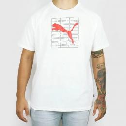 Camiseta Puma Dimensional Graphic - Branca