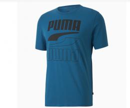 Camiseta Puma Rebel bold tee Masculina - Azul