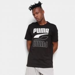 Camiseta Puma Rebel bold tee Masculina - PRETO